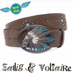 Zadig & Voltaire Accessories - Zadig &Voltaire RUNAWAY skull chief belt