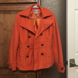 Forever 21 Jackets & Blazers - Forever 21 orange peacoat