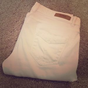 Zara white denim pants