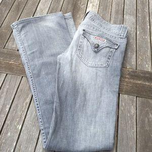 Hudson Amu Jeans Gray Triangle Flap Pocket 27