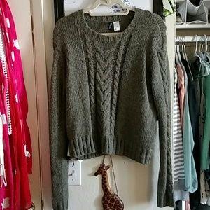 Warm, green knit sweater