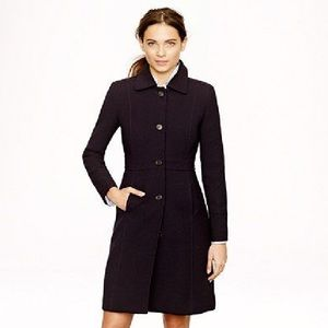 J.Crew Black Double-Cloth Lady Day Coat Thinsulate