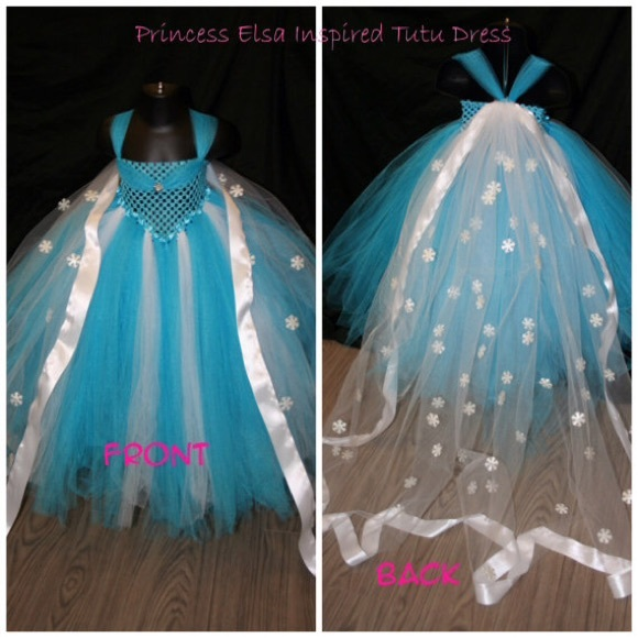 61c8abbafc11 Dresses | Frozen Princess Elsa Tutu Dress Long Flowing Cape | Poshmark