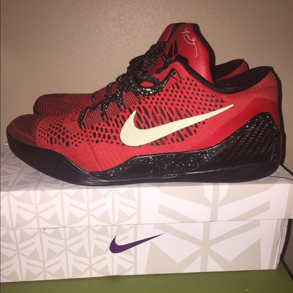 differently ad977 7201a KOBE 9 ELITE LOW university red black turquoise