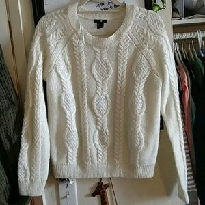 White, knit sweater