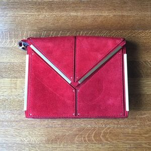 REISS small red shoulder bag/clutch