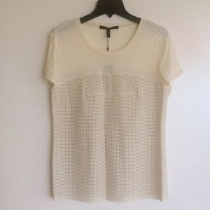 Mixed media BCBGMaxAzria top