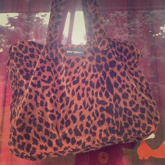 8bc7270e66b8 Betsey Johnson Handbags - Vintage Betsey foldable Leopard tote & clutch