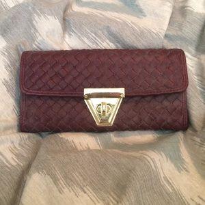 Francesca's Collections Handbags - Francesca's maroon wallet