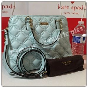 New Kate Spade quilted leather crossbody Satchel