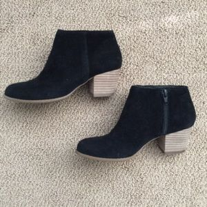Sole Society Shoes - Black suede ankle booties.