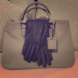 The Limited Accessories - Scandal grey opera gloves