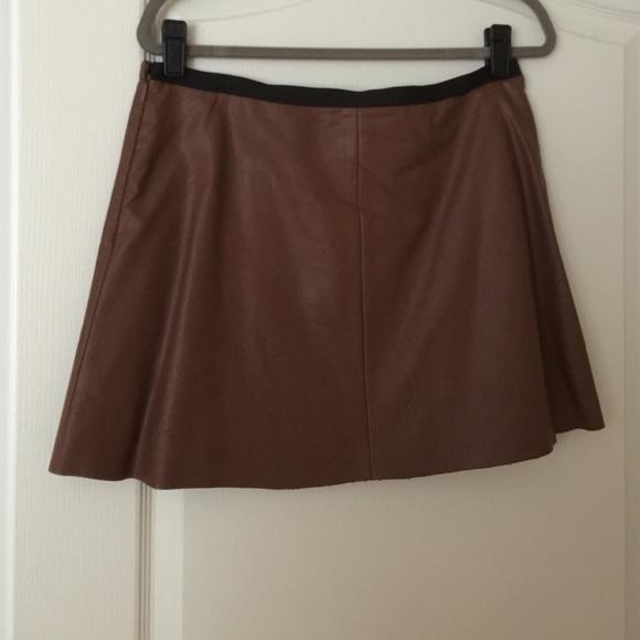 bcbgmaxazria bcbg max azria like leather mini skirt from
