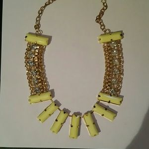 Beautiful neon yellow necklace