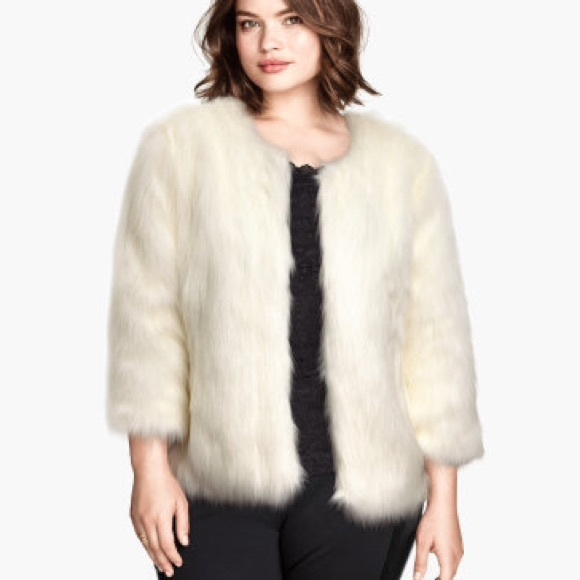 many choices of good selling fine craftsmanship H&M faux fur jacket