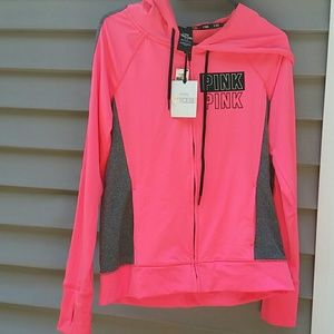Pink by Victoria's Secret Pink and Grey Jacket NWT