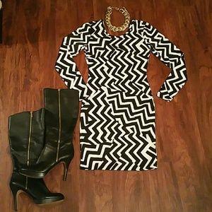 NWT Black and white bodycon dress