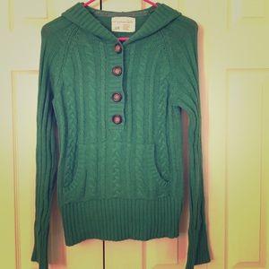 Kelly Green Aeropostale Sweater Hoodie, size large