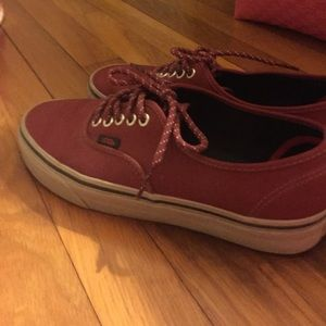 Vans Maroon And Grey