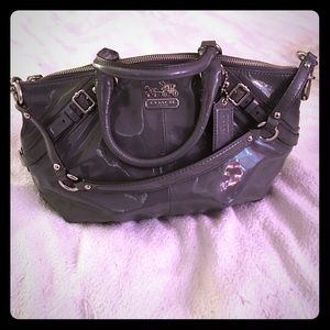 !!ON SALE!! Coach gray patent leather satchel