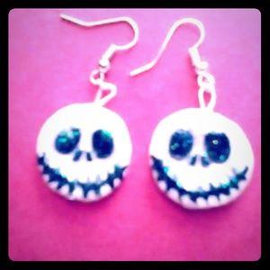 Jewelry - Jack the skeleton earrings