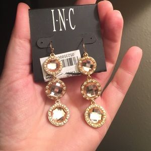INC Crystal Dangle Earrings