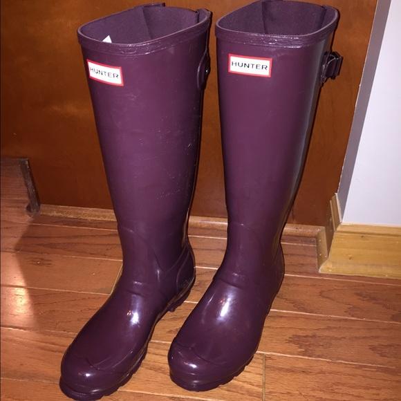 Original Back Adjustable Gloss Burgundy Hunter- Purple boots