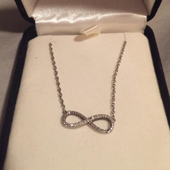 Kay Jewelers Jewelry Diamond Infinity Necklace Poshmark