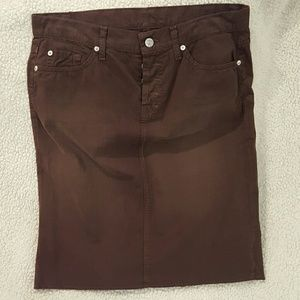 Brown Skirt 7 for all Mankind