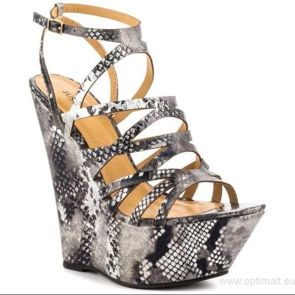 JustFab Shoes | Snake Print Platform