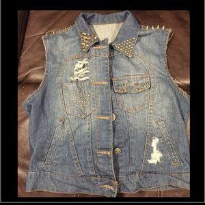 Jackets & Blazers - Blue jean vest