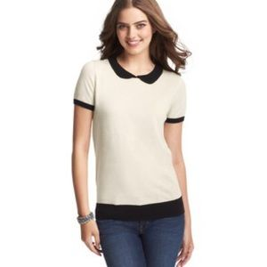 Ann Taylor LOFT Peter Pan Collared Sweater Tee
