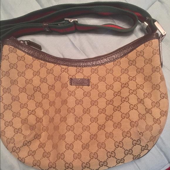 0db23a598b2 Gucci Handbags - Authentic Gucci Canvas Messenger Crossbody