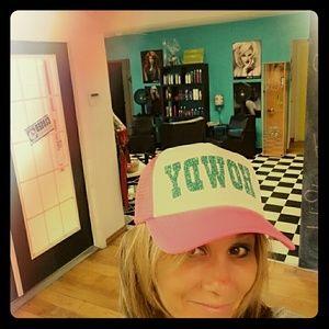 Pink howdy trucker hat
