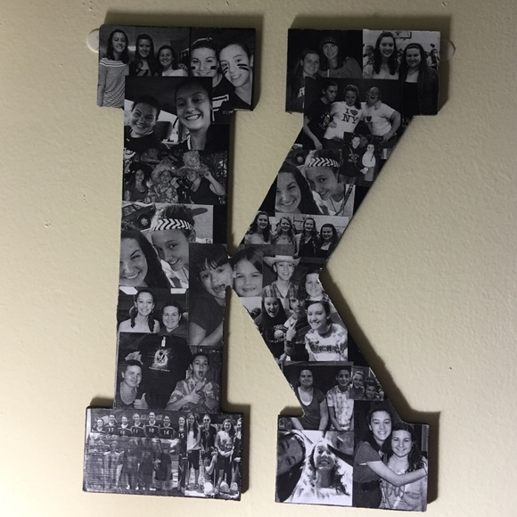accessories homemade wooden letter picture collage
