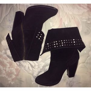 Forever 21 studded heel booties size 6