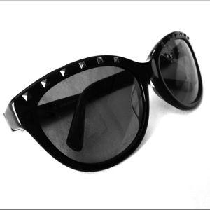 Valentino Rockstud Sunglasses Black Gunmetal