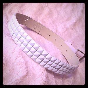 🆕White Studded Belt