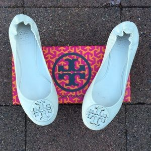 Tory Burch Shoes - Bleach White Tory Burch Reva Flats
