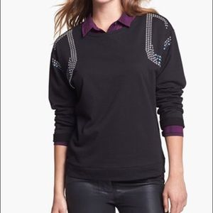 NWT Two by Vince Camuto embellished sweatshirt--M