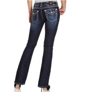 Miss Me Denim - Miss Me Rhinestone-Embellished Bootcut Jeans