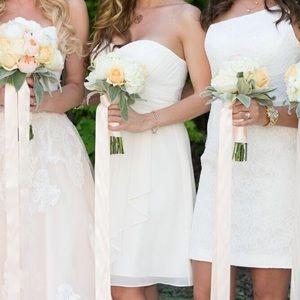 Dresses & Skirts - Ivory D'zage bridesmaid dress sz8