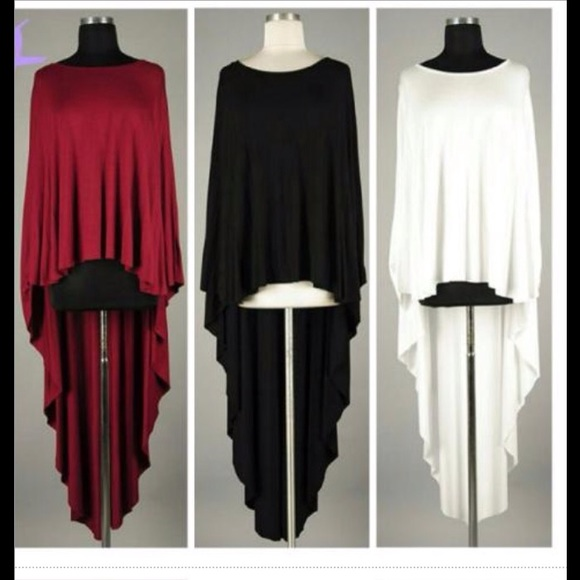 Tops Plus Size Asymmetrical Drape Burgundy Top Poshmark