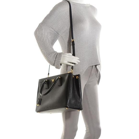 Prada Double Zip Lux Tote Saffiano Leather Medium eiBR6l