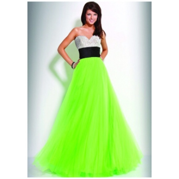 Jovani Dresses   Lime Green Gown   Poshmark