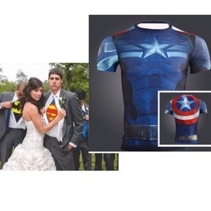 Other - CAPTAIN AMERICA Mens COMPRESSION SHIRT/GREAT GIFT