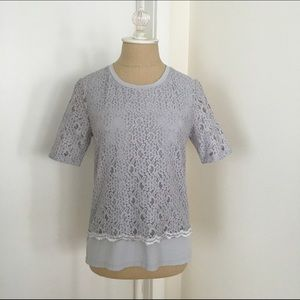 Ann Taylor Tops - Ann Taylor Lace Overlay Top, size XS