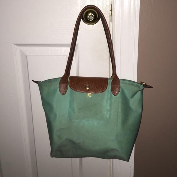 1eb5de126520c Longchamp Handbags - Longchamp Le Pliage Medium Shoulder Tote Teal