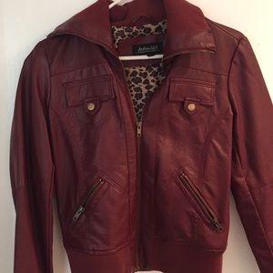 Burgundy bomber jacket sz S