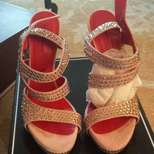 cesare paciotti Shoes - Authentic Cesare Paciotti pink  heels w crystal